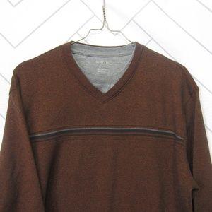 Van Heusen Mock Layered V-neck Pullover sz L